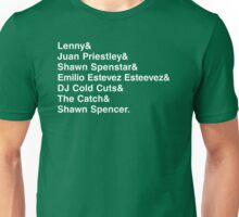 The Many Names of Shawn Spencer Unisex T-Shirt