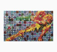Samus Gridwork with Metroid by nemis35