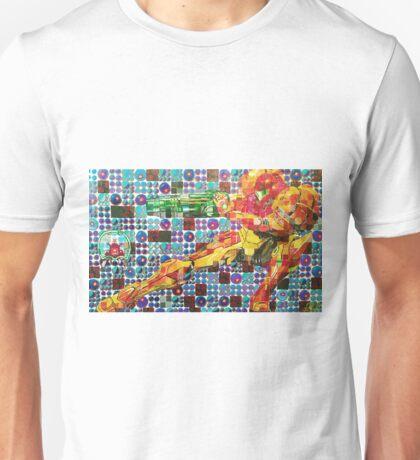 Samus Gridwork with Metroid Unisex T-Shirt