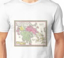 Vintage Map of Greece (1853) Unisex T-Shirt