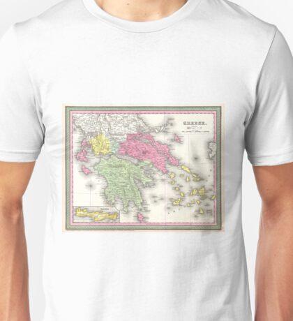 Vintage Map of Greece (1853) Unisex T-Shirt