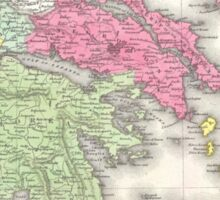 Vintage Map of Greece (1853) Sticker