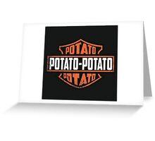 Harley Davidson Potato Greeting Card