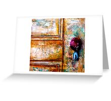 The Red Door Knob Greeting Card