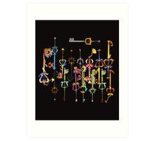 Kingdom heart Keyblade Art Print