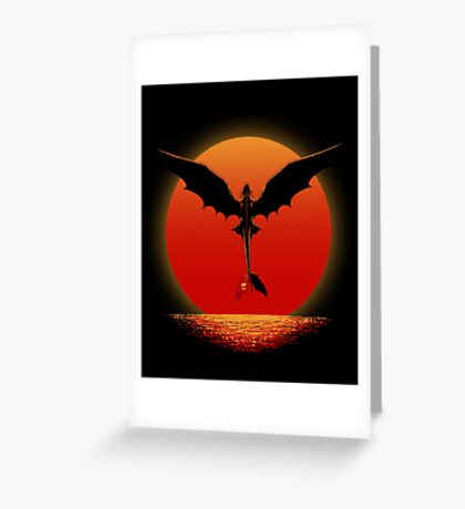 Toothless on Sunset Greeting Card