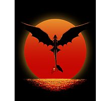 Toothless on Sunset Photographic Print