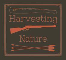 Harvesting Nature Orange Logo Shirt by HarvestingNatur