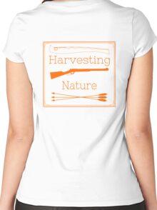Harvesting Nature Orange Logo Shirt Women's Fitted Scoop T-Shirt