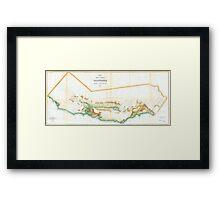 Vintage Map of California (1854)  Framed Print