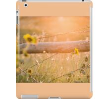 Roadside Country Fence and Sunflowers iPad Case/Skin