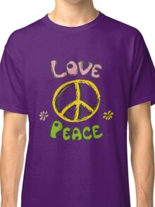 Hand drawn hippie background Classic T-Shirt
