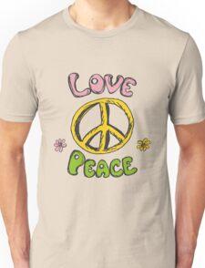 Hand drawn hippie background Unisex T-Shirt