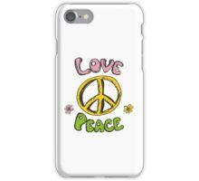 Hand drawn hippie background iPhone Case/Skin