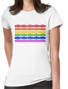 Ghetto Blaster Rainbow! Womens Fitted T-Shirt