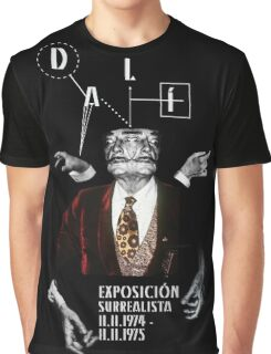 Salvador Dali Surreal Potrait  Graphic T-Shirt