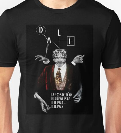 Salvador Dali Surreal Potrait  Unisex T-Shirt