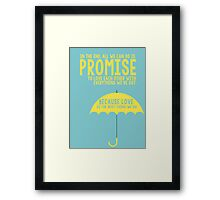 How I Met Your Mother Ted Mosby Framed Print