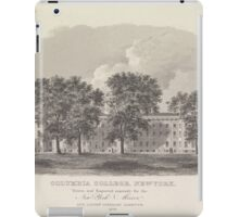 146 Columbia College New York drawn and engraved expressly for the New York mirror and ladies' literary gazette 1828 iPad Case/Skin