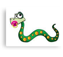 snake baby girl Canvas Print