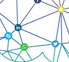Brain Social Network Sticker