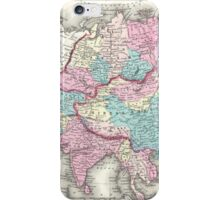 Vintage Map of Asia (1855)  iPhone Case/Skin