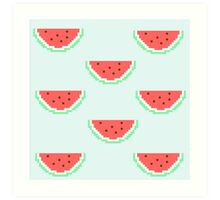 8-bit Watermelon  Art Print