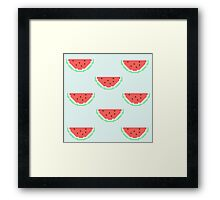 8-bit Watermelon  Framed Print