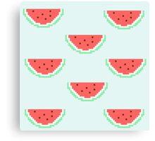8-bit Watermelon  Canvas Print