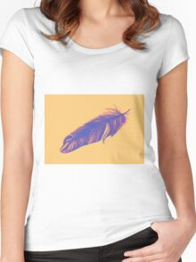 Soft drawing of feather Women's Fitted Scoop T-Shirt