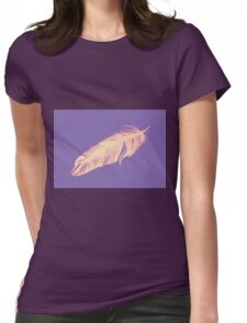 Soft drawing of feather Womens Fitted T-Shirt