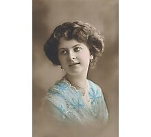 Edwardian lady in blue 2 Photographic Print