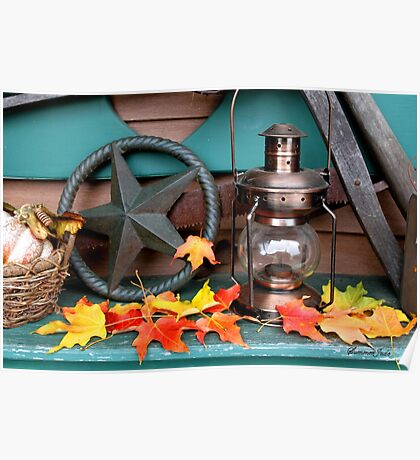 Autumn in Primitive Home Decorating Style Poster