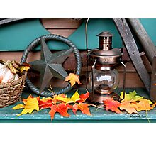 Autumn in Primitive Home Decorating Style Photographic Print