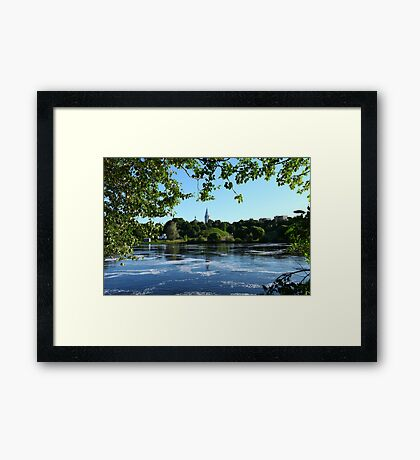 Beautiful river landscape  Framed Print