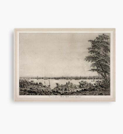 670 View of the City of New York taken from Long Island Canvas Print