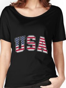 USA Vintage Flag Women's Relaxed Fit T-Shirt