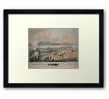 314 National Guard trophy of flags etc with Colonel A Duryee commandant 7th Regt NYSM at Camp Worth Kingston July 1855 forming for review and inspection by Inspector General B F Framed Print