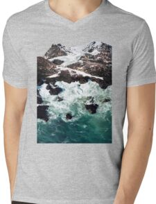 Sea and Mountains Mens V-Neck T-Shirt