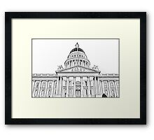California State Capitol Building Framed Print