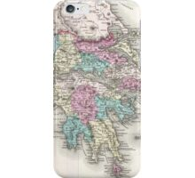 Vintage Map of Greece (1855)  iPhone Case/Skin