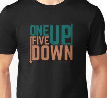 One Up Five Down Motorbike Gears Flipped Linkage Unisex T-Shirt