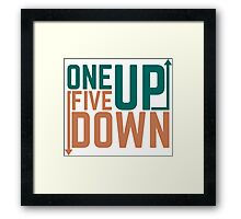 One Up Five Down Motorbike Gears Flipped Linkage Framed Print