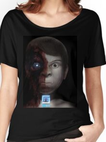 Robot Blue Women's Relaxed Fit T-Shirt