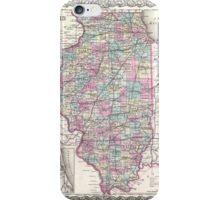 Vintage Map of Illinois (1855)  iPhone Case/Skin