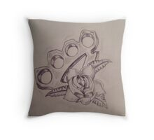 Knuckle Sketch Throw Pillow