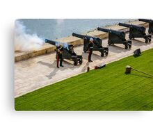 The noon gun at the Saluting Battery Canvas Print