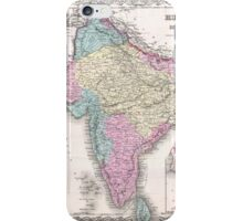 Vintage Map of India (1855) iPhone Case/Skin