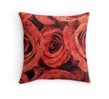 Silk Roses Throw Pillow