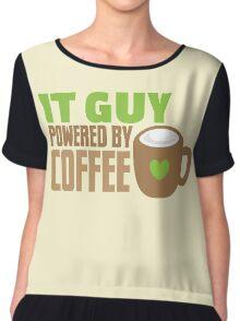 IT GUY powered by coffee Chiffon Top